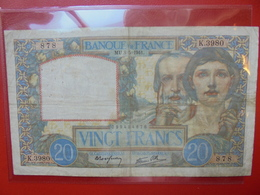 FRANCE 20 FRANCS 8-5-1941 (MU) CIRCULER (F.1) - 1871-1952 Circulated During XXth