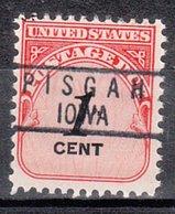 USA Precancel Vorausentwertung Preo, Locals Iowa, Pisgah 818 - Vereinigte Staaten