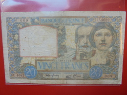 FRANCE 20 FRANCS 17-7-1941  CIRCULER (F.1) - 1871-1952 Circulated During XXth
