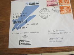 1405   SABENA  GENEVE         METING DU 1  ER VOL - GE Genève