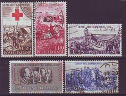 ITALY 1044-1048,used,hinged - 1946-60: Usados