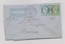1er Septembre 1871 N° 37 Et 20 Au Départ La Charité  Lettre Avec Correspondance - France