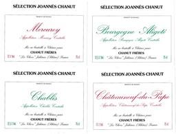 Lot De 7 Etiquettes De Vin Sélection Joannès Chanut - Etiquettes