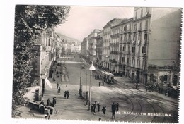 Napoli  Via Mergellina Animata Tram  1952 - Napoli