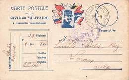Carte Correspondance Franchise Militaire Cachet Hopital Evacuation 1915 Secteur 102B Lantre Caporal 59 Regiment Leran - Marcofilie (Brieven)