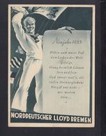 Norddeutscher Lloyd Bremen PK Neujahr 1935 - Piroscafi