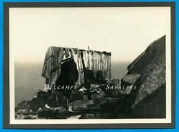 Inédit * Chamonix 1935 * Cabane Col Du Midi (voir Descriptif) * 2 Photos Originales 12 X 17cm - Places