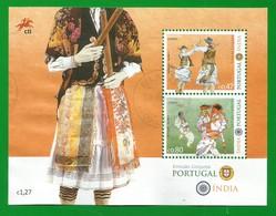 Portugal  2017 , Emissäo Conjunta Portugal-India - Sheet / Block - Gestempelt / Used / (o) - 1910-... Republik