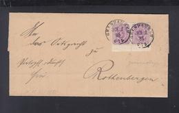 Dt. Reich Faltbrief 1885 Gelnhausen Nach Rothenbergen Paar - Germany
