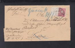 Dt. Reich Faltbrief 1890 Gelnhausen Nach Lieblos Rand Mit Nummer - Deutschland