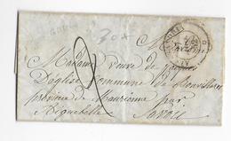 "1852 - LETTRE De ALEXANDRIE (EGYPTE) AVEC CACHET MARITIME - PAQUEBOT ""ALEXANDRIA"" - 1849-1876: Période Classique"