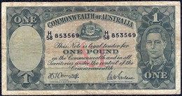 Australia 1 Pound 1942 'VF' P-26b Banknote - Australië