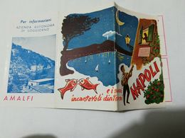 8201 Pieghevole Tascabile Pubblicitario Napoli Anni '50 - Dépliants Turistici
