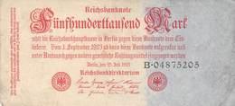 500.000 Mark Reichsbanknote  VG/G (IV) - 1918-1933: Weimarer Republik