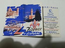 8202 Pieghevole Tascabile Pubblicitario Firenze Anni '50 - Dépliants Turistici
