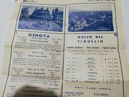 8204 Orario SATI AUTOLINEE GENOVA TIGULLIO 1955 PUBBLICITARIO - Dépliants Turistici