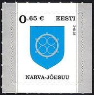 Estonia Estland Estonie 2019 (02) Coat Of Arms - Narva Joesuu (with Number Of Issue) - Estonia