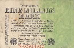 1 Mio. Mark Reichsbanknote  VG/G (IV) - 1918-1933: Weimarer Republik