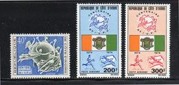 COSTA DE MARFIL (IVORY COAST), 1974, UPU Centenary 3v  MNH - Costa De Marfil (1960-...)