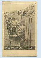 P3Q46/ Jagd Im Schützengraben  Läuse  1. Weltkrieg AK 1916 - Guerre 1914-18
