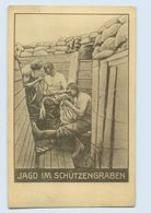 P3Q46/ Jagd Im Schützengraben  Läuse  1. Weltkrieg AK 1916 - Weltkrieg 1914-18