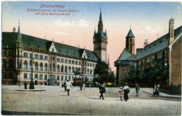 GERMANIA  NIEDERSACHSEN  BRAUNSCHWEIG  Ruhfäutchenplatz Mit Neuem Rathaus Und Burg Dankwarderode  Feldpost 1918 - Braunschweig