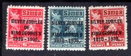 1935 - SAMOA - Mi. Nr.  72/74 -  LH  - (K-EA-361388.5) - Samoa