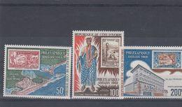 COSTA DE MARFIL (IVORY COAST), 1969, Philexafrique 3v   MNH - Costa De Marfil (1960-...)