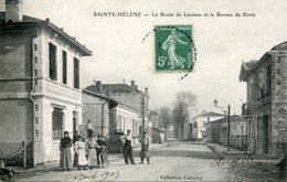 A VOIR ! STE SAINTE HELENE MEDOC 1909 PLACE BUREAU POSTE ANIMEE ROUTE LACANAU  THEMES GIRONDE - France