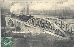 CPA Avranches Chemin De Fer De La Manche Viaduc Franchissant Les Voies De L'Est Et De La Sée - Train - Avranches