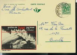 Publibel Obl. N° 2385  ( Préhistoire, Han / Lesse Et De Rochefort  Grottes)  Obl. Hamoir Double Cercle 15/07/70 - Entiers Postaux