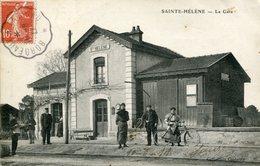 A VOIR ! STE SAINTE HELENE MEDOC 1911 LA GARE THEMES GIRONDE TRANSPORTS GARES TRAINS CHEMINS DE FER LACANAU - Non Classés