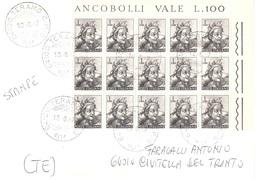 15 X £1 MICHELANGIOLESCA STAMPE DA TERAMO A CIVITELLA DEL TRONTO - 6. 1946-.. Repubblica