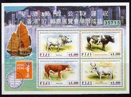 Fiji 1997 Hong Kong '97 Exhibition Cattle MS, MNH, SG 975 (BP2) - Fiji (1970-...)