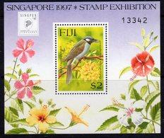 Fiji 1997 Singapore '97 Exhibition Bird & Flowers MS, MNH, SG 976 (BP2) - Fiji (1970-...)