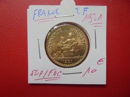 FRANCE 2 FRANCS 1921 QUALITE SUPERBE/FDC ! (A.7) - I. 2 Francs