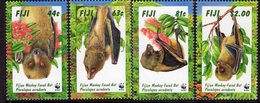 Fiji 1997 Endangered Species, Bats Set Of 4, MNH, SG 986/9 (BP2) - Fiji (1970-...)