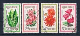 DDR 1966 Blumen Mi.Nr. 1189/92 Kpl. Satz Gest. - DDR