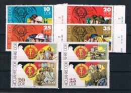 DDR 1984/89 35/40 Jahre DDR Mi.Nr. 2898/901 + 3279)82 Kpl. Satz ** - Neufs