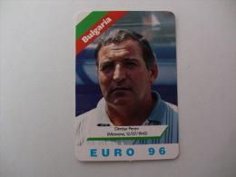 Euro Cup Football Bulgaria Coach Dimitar Penev Portugal Portuguese Pocket Calendar 1996 - Calendari