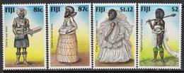Fiji 1998 Traditional Costumes Set Of 4, MNH, SG 1006/9 (BP2) - Fiji (1970-...)