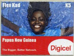 Papua New Guinea Flex Card Digicel K5 Woman - Papua New Guinea