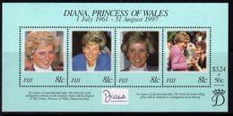 Fiji 1998 Princess Diana Commemoration MS, MNH, SG 1015 (BP2) - Fiji (1970-...)