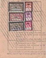 LOT ET GARONNE - CASTELJALOUX - FEUILLET TRIMESTRIEL DE COTISATION ASSURANCE MALADIE EN 1935 - TIMBRE MOUCHON AVEC - Revenue Stamps