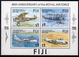 Fiji 1998 80th Anniversary Of The RAF Aeroplanes MS, MNH, SG 1020 (BP2) - Fiji (1970-...)