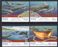Fiji 1998 Sperm Whales Set Of 4, MNH, SG 1021/4 (BP2) - Fiji (1970-...)