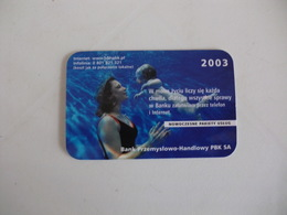 Bank Banque Banco Przemyslowo Handlowy PBK SA Poland Pocket Calendar 2003 - Calendari