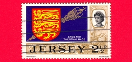 JERSEY - Usato - 1969 - Vedute - Arms & Royal Mace - 2 ½ P - Jersey