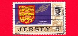 JERSEY - Usato - 1969 - Vedute - Arms & Royal Mace - 5 P - Jersey