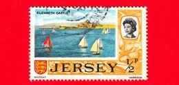 JERSEY - Usato - 1969 - Vedute - Elizabeth Castle - ½ P - Jersey